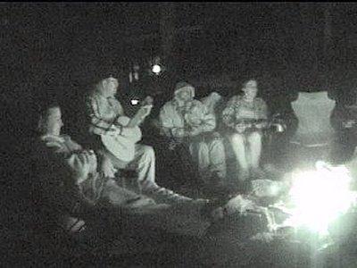 music round camp fire