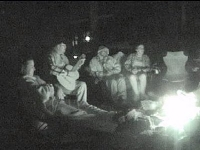 music round camp fire